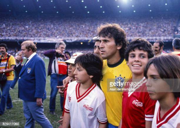 Zico of Brazil during a Friendly match between Brazil and Chile on June 8 1985 in Porto Alegre Brazil