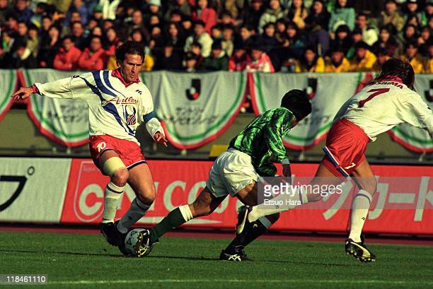 Zico of Kashima Antlers in action during the Suntory Championship second leg match between Verdy Kawasaki and Kashima Antlers at the National Stadium...
