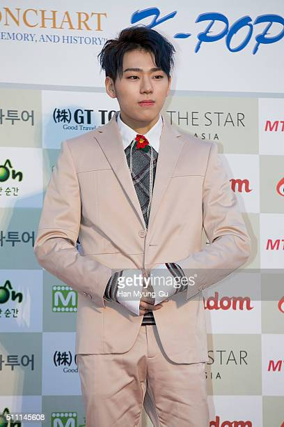 Zico of South Korean boy band Block B attends the 5th Gaon Chart K-Pop Awards on February 17, 2016 in Seoul, South Korea.