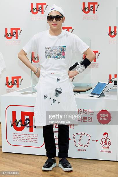 Zico of South Korean boy band Block B attends the launch event for UNIQLO 'UTme' Services at Myeongdong Uniqlo Store on April 27 2015 in Seoul South...
