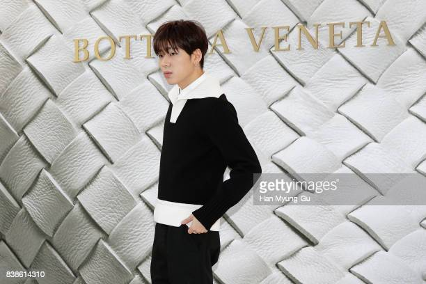 Zico of South Korean boy band Block B attends the photocall for 'Bottega Veneta' 2017 FW Collection on August 24 2017 in Seoul South Korea