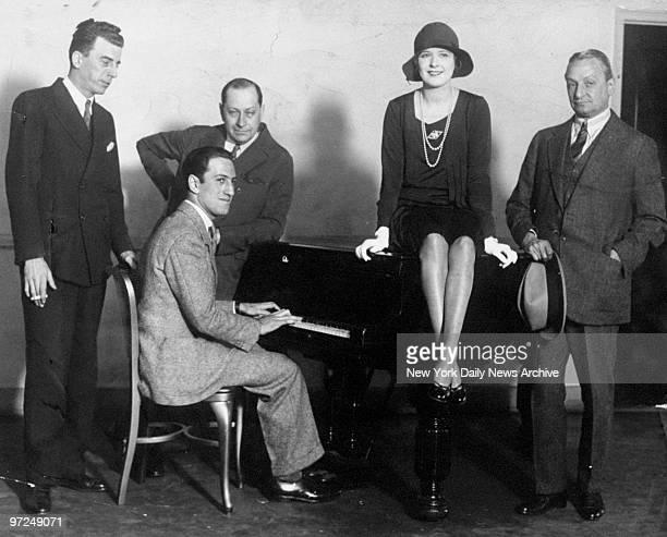 Ziegfeld celebrities Jack Donahue George Gershwin Sigmund Romberg and Marilyn Miller are joined by Florenz Ziegfeld