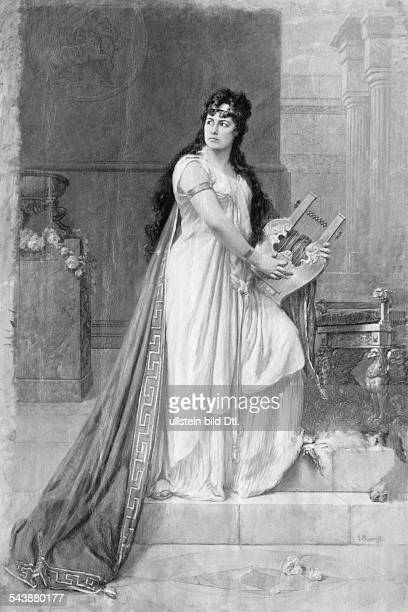 Ziegler Clara Actress Germany*27041844 Role as 'Medea' halftone after an oil painting by Georg Papperitz ca 1863Vintage property of ullstein bild