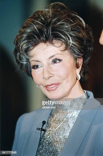 Ziemann Sonja *Schauspielerin Taenzerin Saengerin D Portrait September 1998