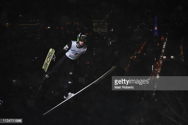 Ziga Jelar of Solvenia during the qualification of the FIS Ski Jumping World Cup Sapporo at Okurayama Jump Stadium on January 25 2019 in Sapporo...