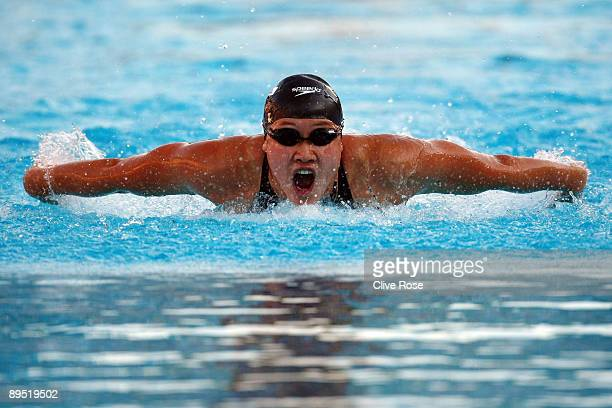 Zige Liu of China competes in the Women's 200m Butterfly Final during the 13th FINA World Championships at the Stadio del Nuoto on July 30 2009 in...