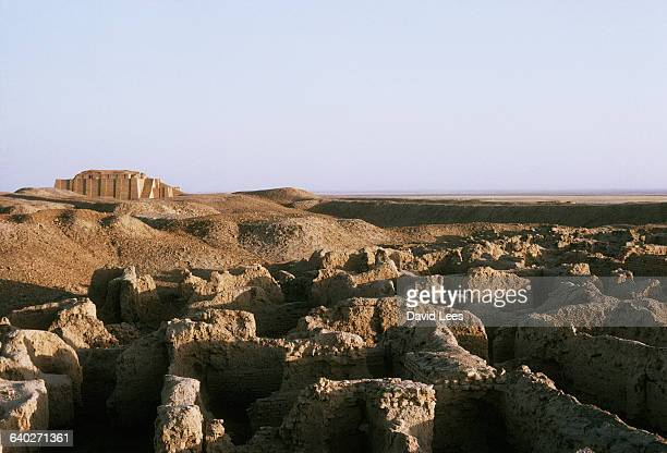 Ziggurat and ruined walls of the ancient Sumerian city of Ur in modernday Iraq Ur is believed to be the birthplace of the biblical Abraham