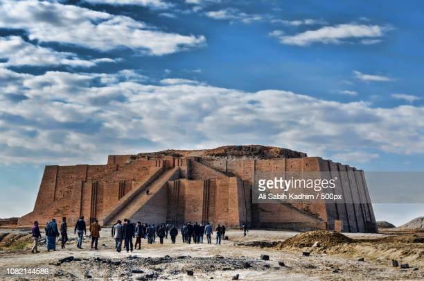 ziggurat of ur /iraq - ziggurat stock photos and pictures