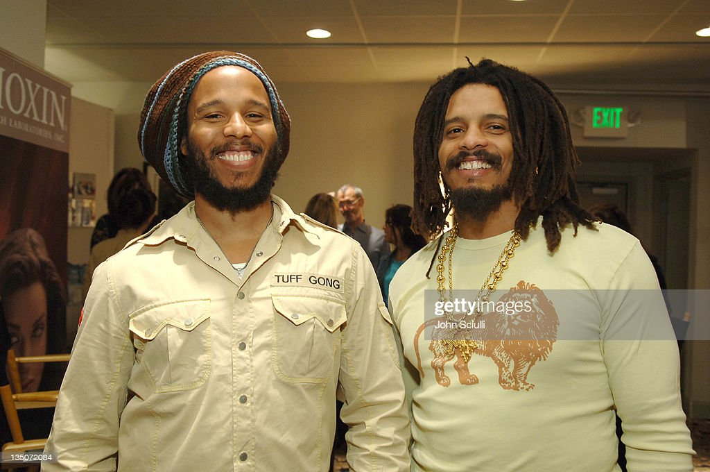 Ziggy Marley and Rohan Marley during Silver Spoon Hollywood Buffet - Day 2 at Private Residence in Beverly Hills, California, United States.