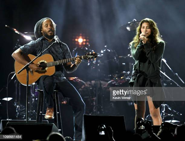 Ziggy Marley and Toni Cornell perform at I Am The Highway A Tribute to Chris Cornell at the Forum on January 16 2019 in Inglewood California