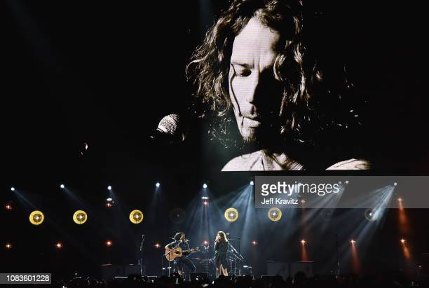 Ziggy Marley and Toni Cornell perform onstage during I Am the Highway A Tribute to Chris Cornell on January 16 2019 at The Forum in Inglewood...