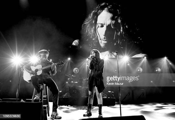 Ziggy Marley and Toni Cornell perform onstage during I Am The Highway A Tribute To Chris Cornell at The Forum on January 16 2019 in Inglewood...