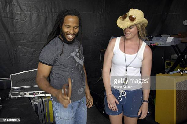 Ziggy Marley and Vanessa LaPointe during Timberland Gift Suite 2007 - Day 2 at Artist Hospitality in Manchester, Tennessee, United States.