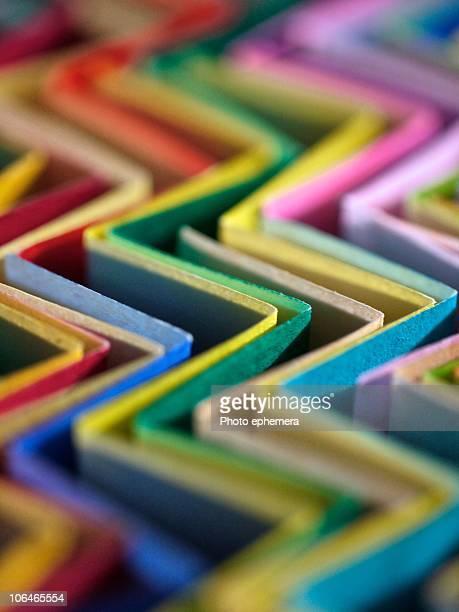zigzag origami papers