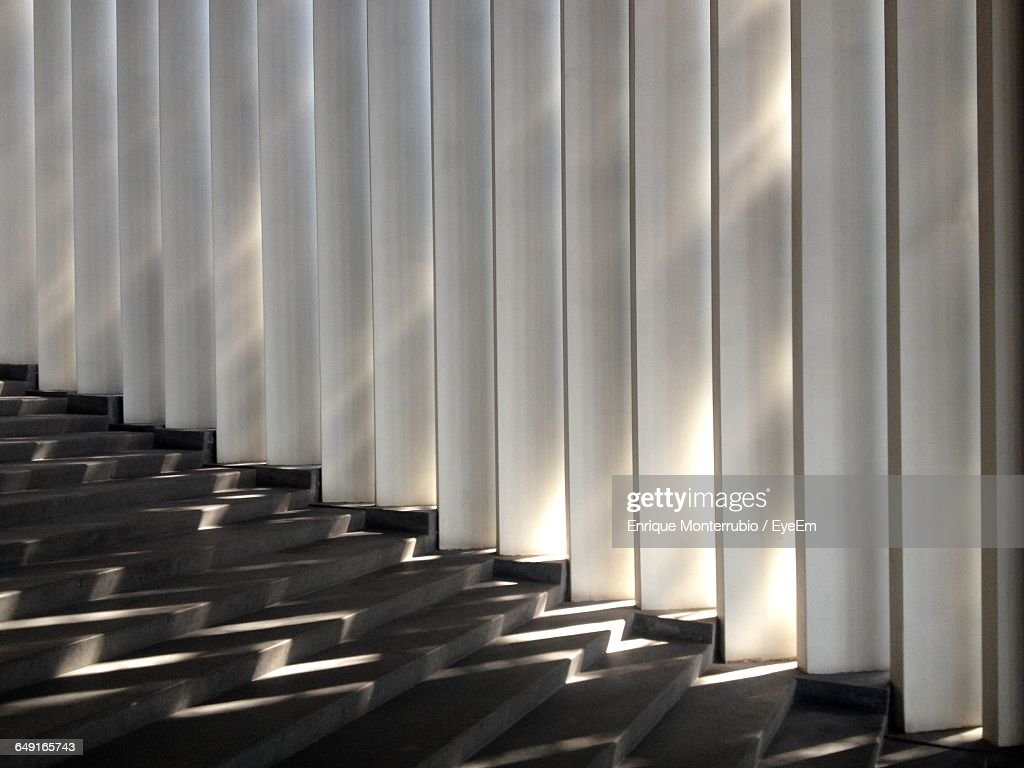 Zigzag Sunlight Falling On Steps Stock Photo - Getty Images