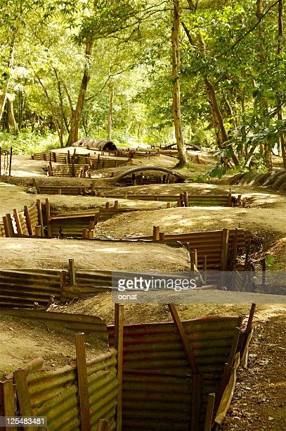 """""""zig-zag"""" trenches at Hill 62 and Sanctuary Wood"""