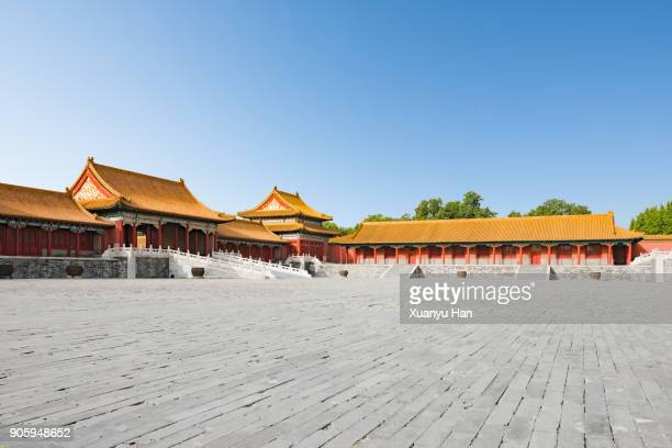 zijin cheng, the forbidden city, unesco world heritage site, beijing, china, asia - qing dynasty stock photos and pictures