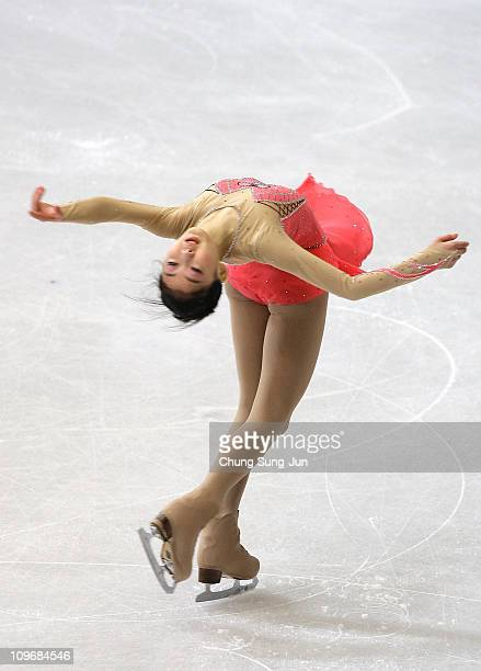 Zijun Li of China competes in the Ladies Free on day two of the 2011 World Junior Figure Skating Championships at Gangneung International Ice Rink on...