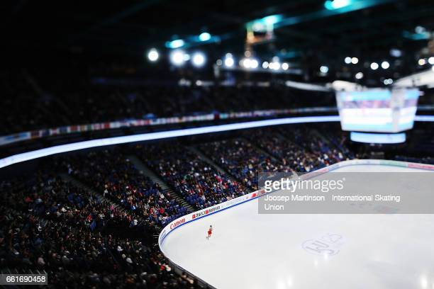 Zijun Li of China competes in the Ladies Free Skating during day three of the World Figure Skating Championships at Hartwall Arena on March 31 2017...