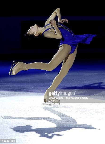 Zijun Li of China performs during the Exhibition Program on day three of Audi Cup of China ISU Grand Prix of Figure Skating 2015 at Beijing Capital...