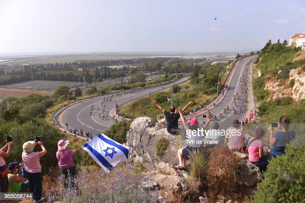 Zikhron Ya'Aqov / Peloton / Landscape / Fans / Public / during the 101th Tour of Italy 2018 Stage 2 a 167km stage from Haifa to Tel Aviv / Giro...