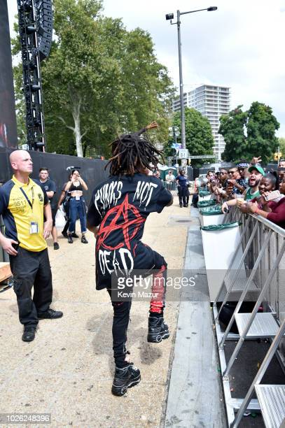 ZillaKami of City Morgue performs at the Rocky Stage during the 2018 Made In America Festival Day 2 at Benjamin Franklin Parkway on September 2 2018...