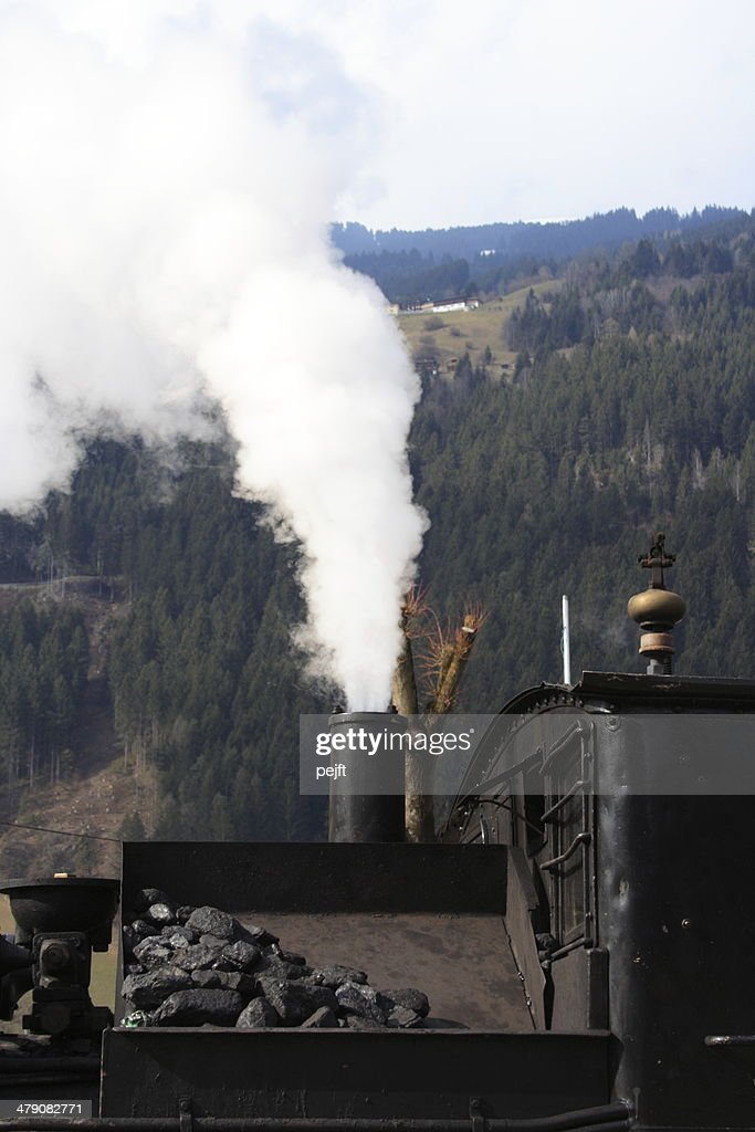 Zillertalbahn historical steam train at Zell am Ziller Station : Stock Photo