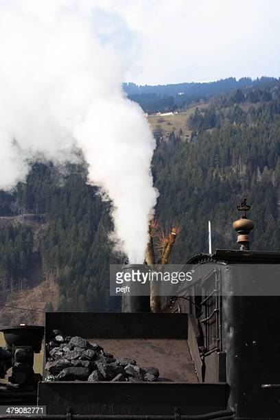 zillertalbahn historical steam train at zell am ziller station - pejft stock pictures, royalty-free photos & images