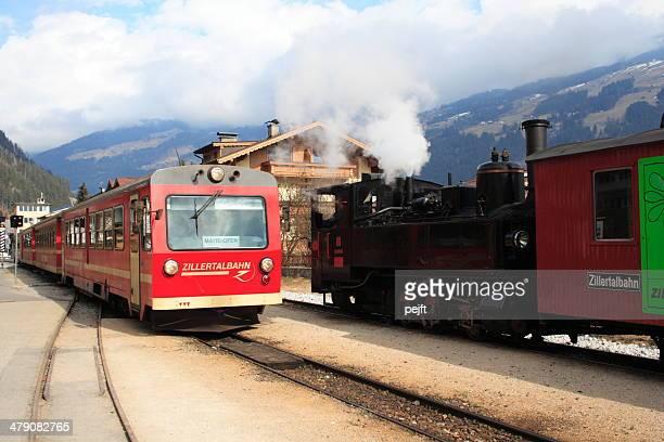 Zillertalbahn train at Zell am Ziller Station