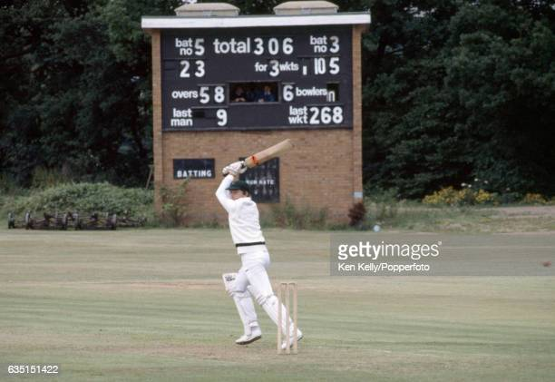 Zimbabwe captain Duncan Fletcher batting during the ICC Trophy group match between USA and Zimbabwe at Moseley Cricket Club, Shirley, 16th June 1982....
