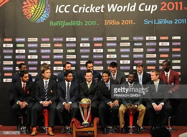 Zimbabwe captain Elton Chigumbura , New Zealand Daniel Vettori ,Pkistan Shahid Afridi , India Mahendra Singh Dhoni, South Africa Graeme Smith ,...