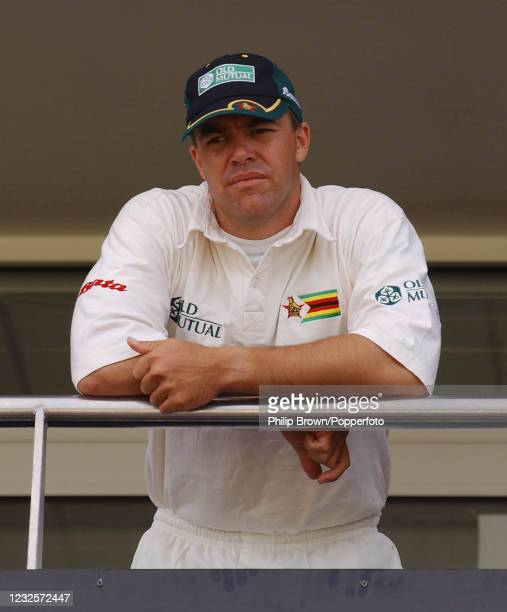 Zimbabwe captain Heath Streak after Zimbabwe lost to England in the 2nd Test match by an innings and 69 runs at the Riverside, Chester-le-Street,...