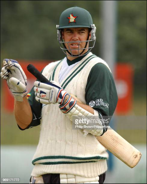 Zimbabwe captain Heath Streak during a nets session before the 2nd Test match between England and Zimbabwe at the Riverside Ground,...