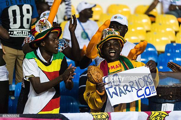 Zimbabwe fans during the African Nations Cup match between Zimbabwe and Tunisia on January 23 2017 in Libreville Gabon