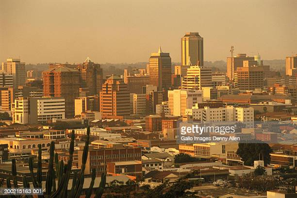 Zimbabwe, Harare, cityscape at dusk