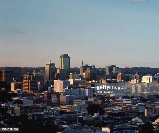 Zimbabwe, Harare, elevated view over city