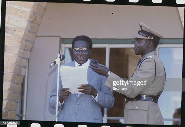 Joshua Nkomo once hailed as father of Zimbabwe's Independence movement fled into exile March 9th in neighboring Botswana culminating year long feud...
