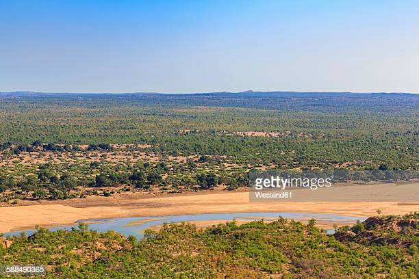 Zimbabwe, Masvingo, Gonarezhou National Park, view to Runde River from Chilojo Cliffs