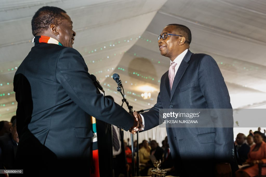 Image result for Mnangagwa and mthuli ncube