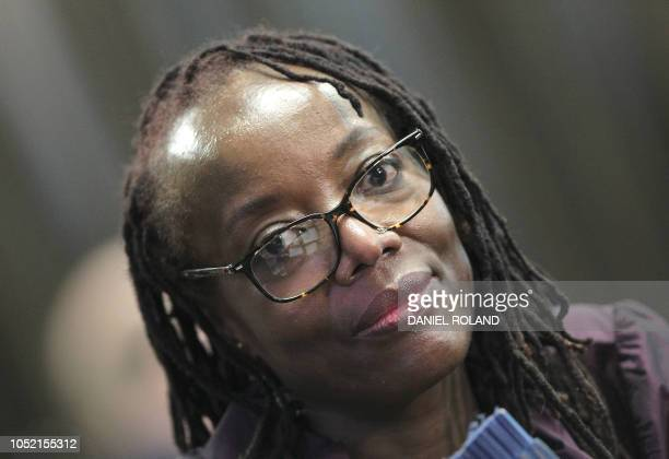 Zimbabwean author Tsitsi Dangarembga is pictured at the Frankfurt book fair in Frankfurt am Main western Germany on October 12 2018 Thirty years...