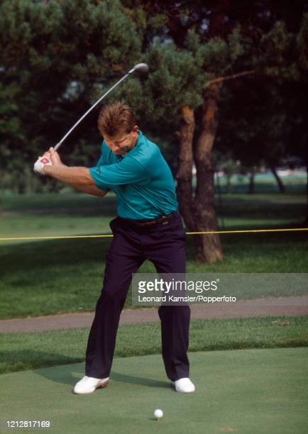Zimbabwean golfer Nick Price, circa February 1992. Image number 4 from a sequence of 8. NOTE TO EDITORS: This image is part of an instructional golf...