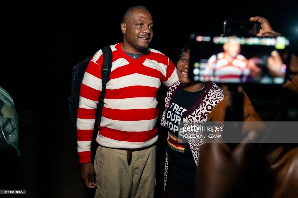 ZIMBABWE-COURT-PROTEST : News Photo