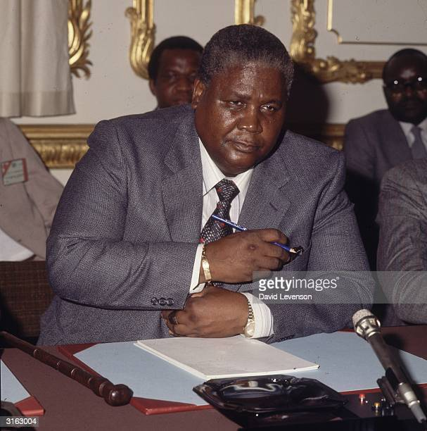Zimbabwean nationalist leader Joshua Nkomo at Lancaster House in London for the Rhodesia Constitutional Conference
