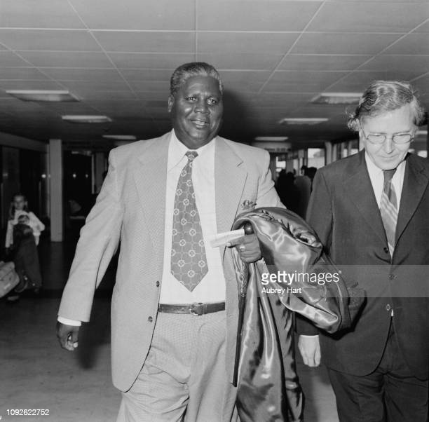 Zimbabwean politicia Joshua Nkomo UK 7th May 1975