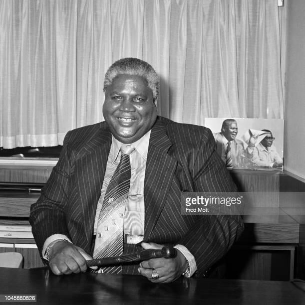 Zimbabwean politician Joshua Nkomo at the Metropole Hotel in Edgware Road London UK 6th December 1979