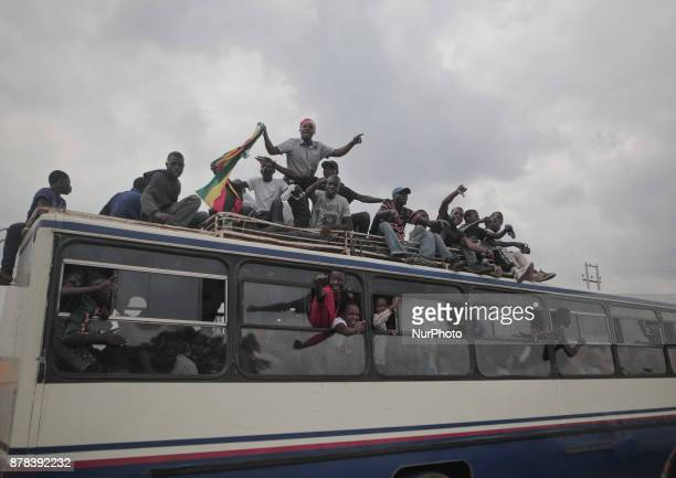Zimbabweans make their way to the National Sports Stadium in Harare for the inauguration of interim President Emmerson Mnangagwa on November 24 2017...