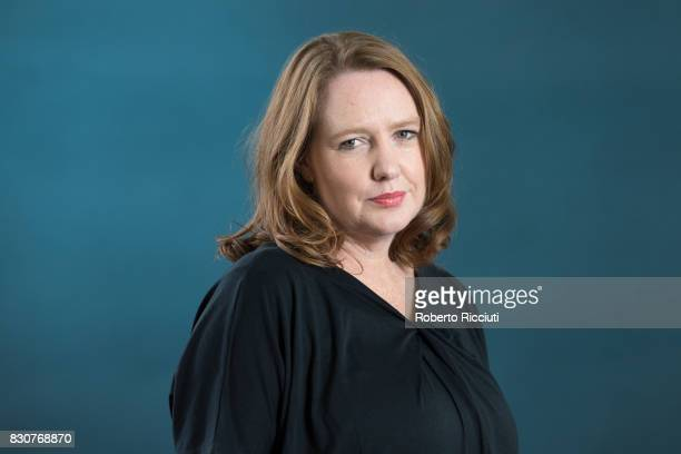 Zimbabweborn British author Paula Hawkins attends a photocall during the annual Edinburgh International Book Festival at Charlotte Square Gardens on...