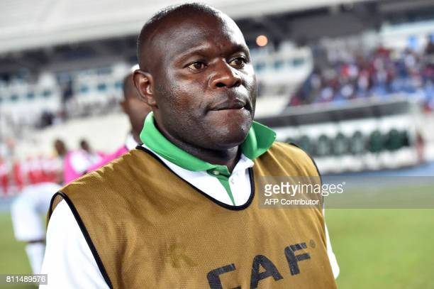 Zimbabwe's Caps United coach Lloyd Chitembwe looks on during the CAF Champions League football match between USM Alger and Caps United Football Club...