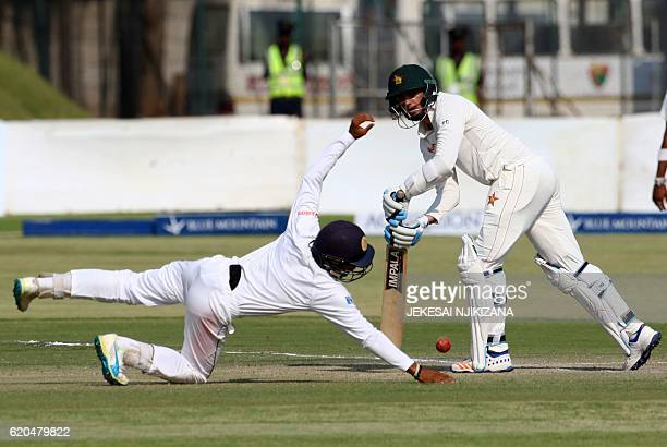 Zimbabwe's captain Graeme Cremer in action during the fifth day of the test match between Sri Lanka and hosts Zimbabwe at the Harare Sports Club...