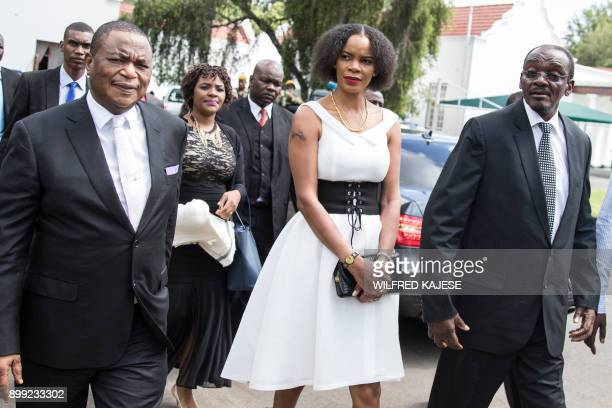 Zimbabwes newly appointed vice president Kembo Mohadi and Zimbabwes former army commander and newly appointed vice president General Constantino...